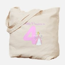 Princess Birthday Custom Age Tote Bag
