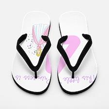 Princess Birthday Custom Age Flip Flops
