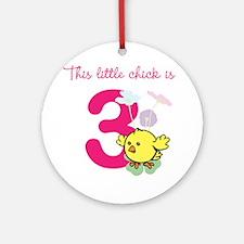 Birthday Chick Custom Age Ornament (Round)
