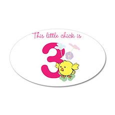 Birthday Chick Custom Age Wall Sticker