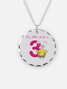 Birthday Chick Custom Age Necklace