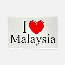 """""""I Love Malaysia"""" Rectangle Magnet"""