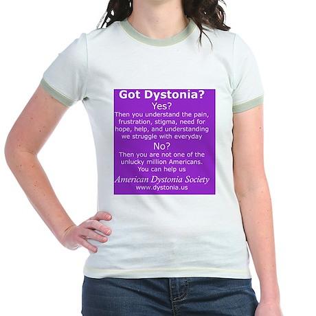 DystoniaTShirt3 Jr. Ringer T-Shirt