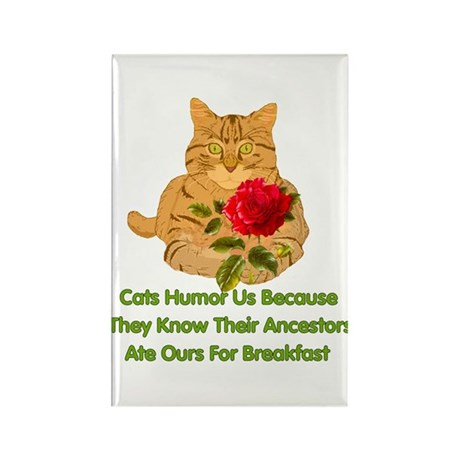 Cats Humor Us Rectangle Magnet