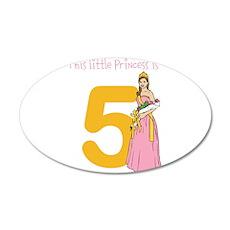 Customizable Age Princess Birthday Wall Sticker