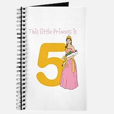 Customizable Age Princess Birthday Journal