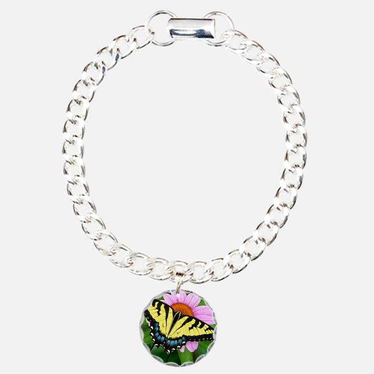 Swallowtail Charm Bracelet, One Charm