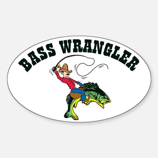 Bass Wrangler Oval Decal
