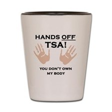 Hands off shirt Shot Glass