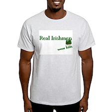 Real Irish Men Wear Kilts Ash Grey T-Shirt