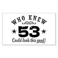 Funny 53rd Birthday Decal