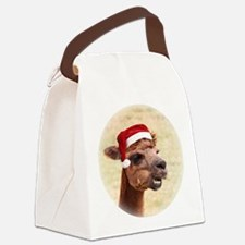 Smiley Christmas Alpaca Canvas Lunch Bag