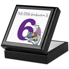 Little Bookworm Custom Age Keepsake Box