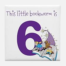 Little Bookworm Custom Age Tile Coaster