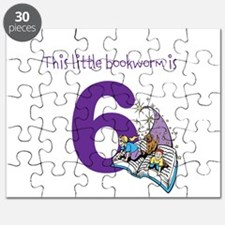 Little Bookworm Custom Age Puzzle
