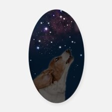 O Howly Night Front Oval Car Magnet