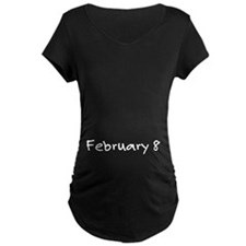 """February 8"" printed on a T-Shirt"