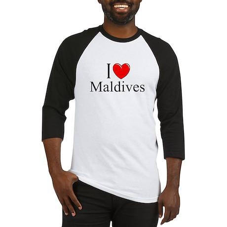 """I Love Maldives"" Baseball Jersey"