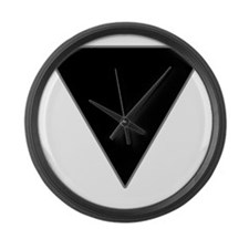 black-triangle_tr2 Large Wall Clock