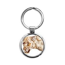 lioness1 Round Keychain
