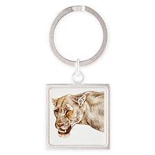 lioness1 Square Keychain