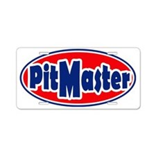PitMasterrOval Aluminum License Plate