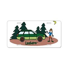 Lesbaru and Leslie Wilderne Aluminum License Plate