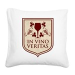 in vino veritas.png Square Canvas Pillow