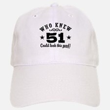 Funny 51st Birthday Baseball Baseball Cap