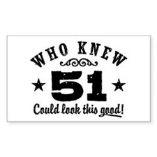 Funny 51st Birthday Decal