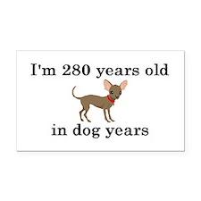 40 birthday dog years chihuahua 2 Rectangle Car Ma