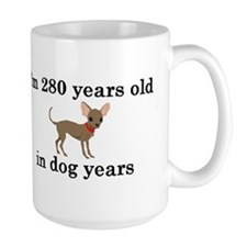 40 birthday dog years chihuahua 2 Mugs