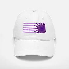 purple flower FUNtainer food omi lee Baseball Baseball Cap