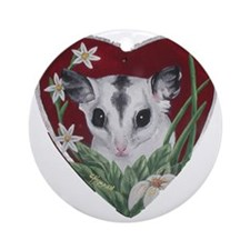 marcell heart cutout Round Ornament