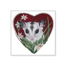 """marcell heart cutout Square Sticker 3"""" x 3"""""""