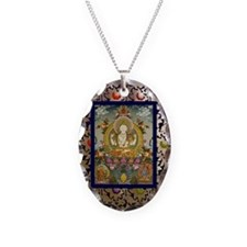 chenrizig-thangka-big Necklace Oval Charm
