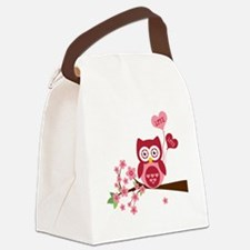 Love You Owl Canvas Lunch Bag
