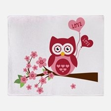 Love You Owl Throw Blanket