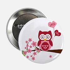 """Love You Owl 2.25"""" Button"""