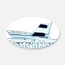 boats1 Oval Car Magnet