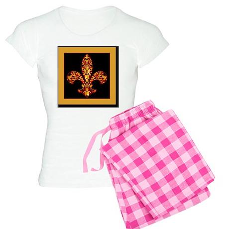 FilagreeGoldLfleur1Bsf Women's Light Pajamas
