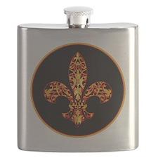 FilagreeGoldLfleur1Br Flask