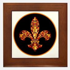 FilagreeGoldLfleur1Br Framed Tile