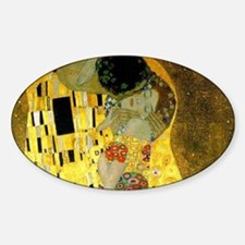 The Kiss by Klimt Sticker (Oval)