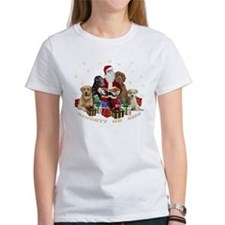 Labs with Santa Naughty or Nice gifts T-Shirt