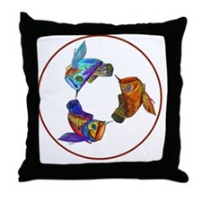 Arowana Swirl Throw Pillow