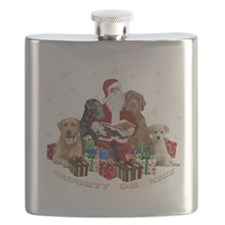 Labs with Santa Naughty or Nice gifts Flask