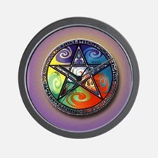 pentacle elements i-phone slider Wall Clock