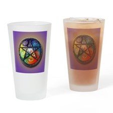 pentacle elements i-phone slider Drinking Glass