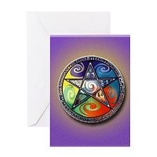 pentacle elements i-phone slider Greeting Card